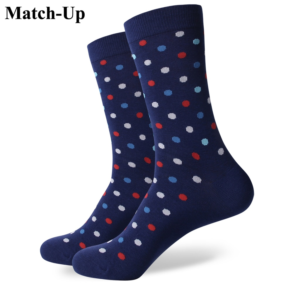 Match-Up Match-Up Samll dot  men's combed cotton Business socks brand man  US size(7.5-12) сабвуфер match mercedes up w8mb s4