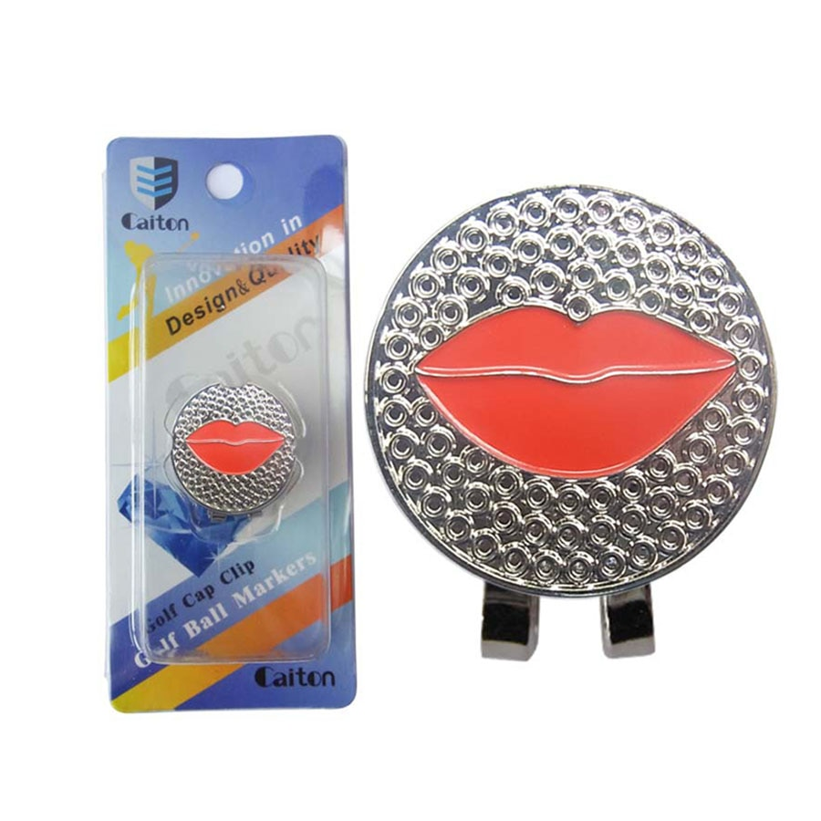 New golf hat clip golf marker Red lips decoration golf Fans supplies accessories free shipping