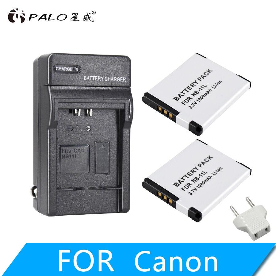 PALO 2 uds NB-11L NB 11L NB11L NB-11LH batería + cargador para Canon A2600 A3500 A4000IS IXUS 125, 132, 140, 240, 245, 265, 155 HS