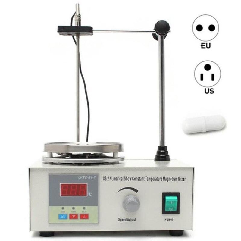Laboratorio agitador magnético placa de calefacción 110V 220V pantalla Digital 2200rpm ajustable Churn revolver máquina licuadora laboratorio agitador