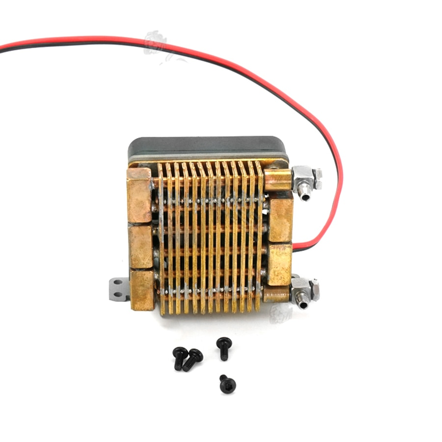 Air-cooled Mini Cooling Radiator Fit For RC Truck Tamiya Engineering Arocs Hydraulic Excavator Loader Remote Control Toys Parts enlarge