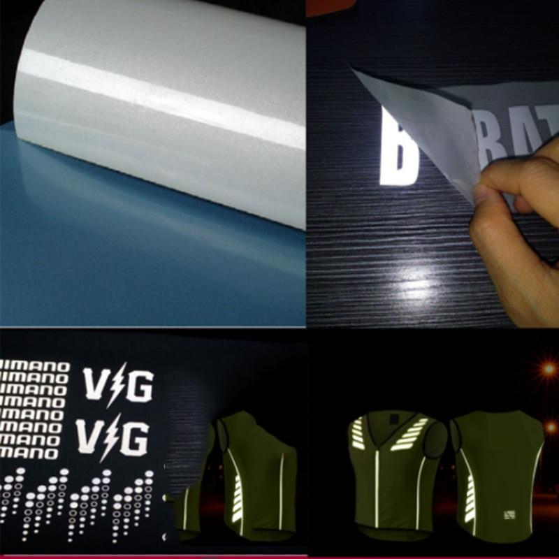Ancho vinilo reflectante de transferencia de calor de 50 cm, seguridad/plancha reflectante en prensa de calor/plancha en camiseta vinilo A4/30 cm/50 cm/100 cm