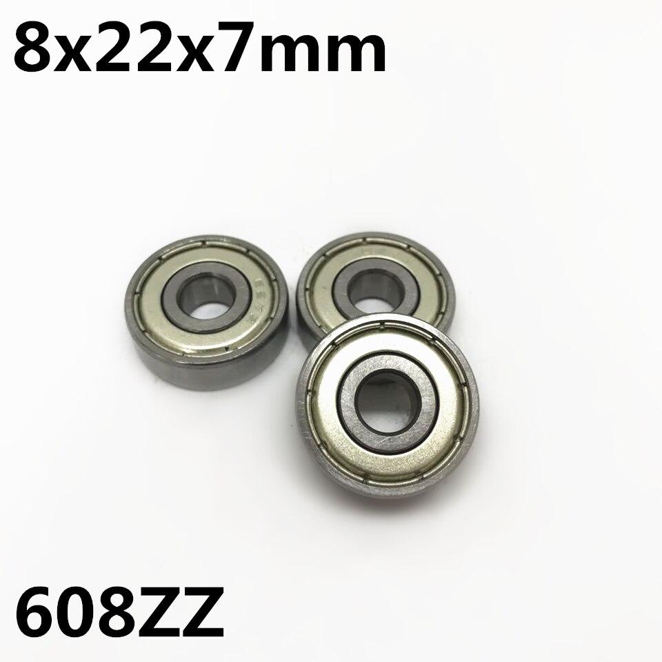 10 Uds 608ZZ 608-2RS 8x22x7mm rodamiento rígido de bolas en miniatura rodamiento de alta calidad 608Z