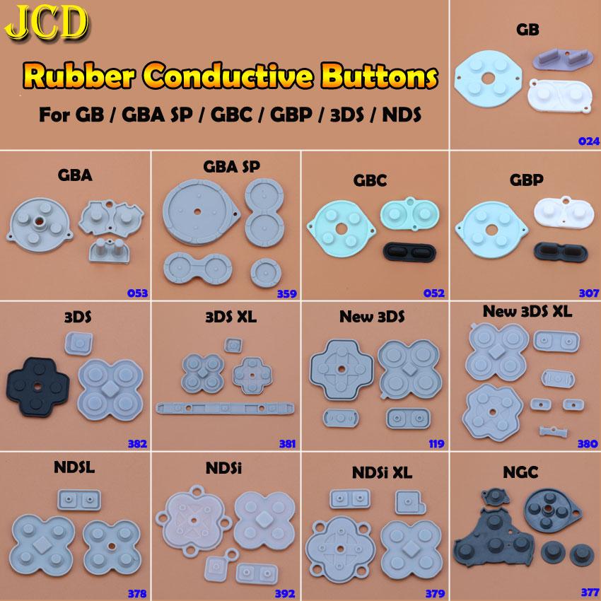 JCD резиновый проводящий кнопочный A-B D-pad для игрового Мальчика Классический ГБ GBC GBP GBA SP для 3DS NDSL NDSI NGC силиконовая пусковая панель