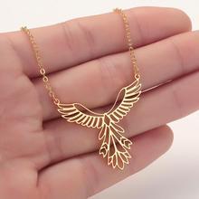 CHENGXUN délicat Phoenix creux pendentif collier pour femmes filles en acier inoxydable collier élégant bijoux inspirant cadeau
