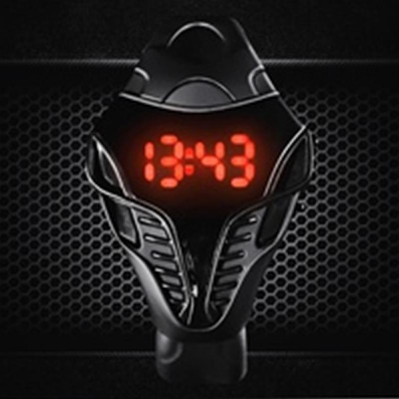 Reloj deportivo impermeable para hombre, reloj LED Digital masculino, reloj masculino Cobra triangular, reloj deportivo de silicona, reloj para mujer