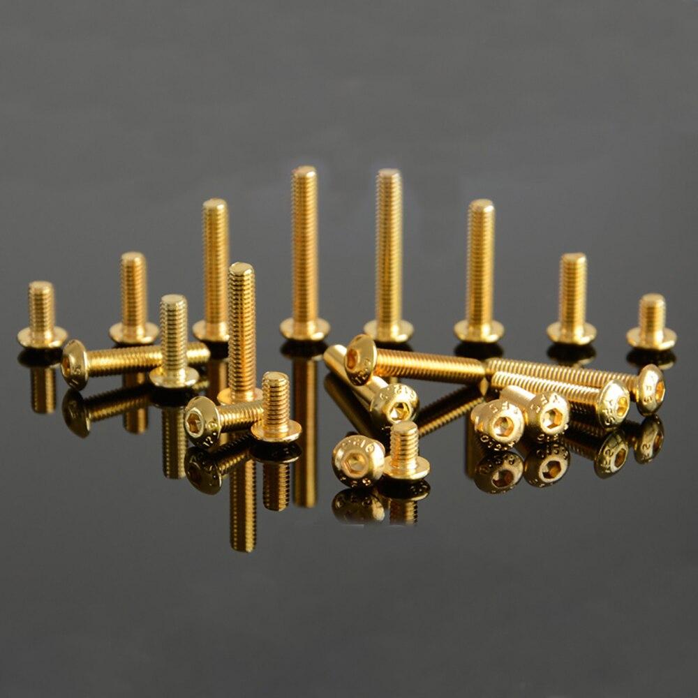 M3 GoldenElectroplate 12,9 ранг легированная сталь Шестигранная головка болт ISO7380 M4 золотой