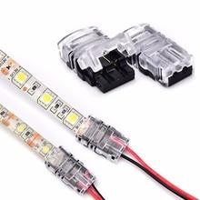 Nouvelle bande de LED 2pin pour câbler le connecteur pour 8/10mm couleur unique IP65 étanche SMD 5050 5630 LED