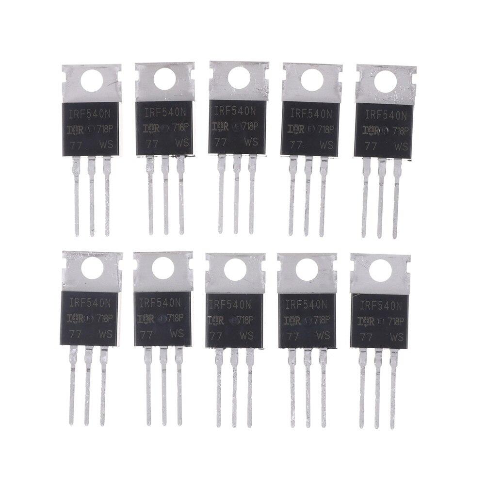 10 Uds venta al por mayor Original IC 33A 100V Mosfet de potencia IRF540N-220 IRF540NPBF TO220 IRF540
