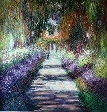 Pintura al óleo hecha a mano 100% Claude Monet Giverny 28x28
