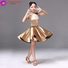 Flamengo robe de danse latine pour filles robe Salsa latine fille enfants Spandex Rumba Samba enfants jupe Salsa Tango danse salle de bal