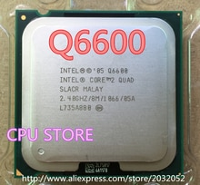 معالج lntel CORE 2 QUAD Q6600 بسرعة 2.4 جيجاهرتز/8 ميجابايت/رباعي النواة/FSB 1066 يمكن تشغيل وحدة المعالجة المركزية LGA 775 المكتبي