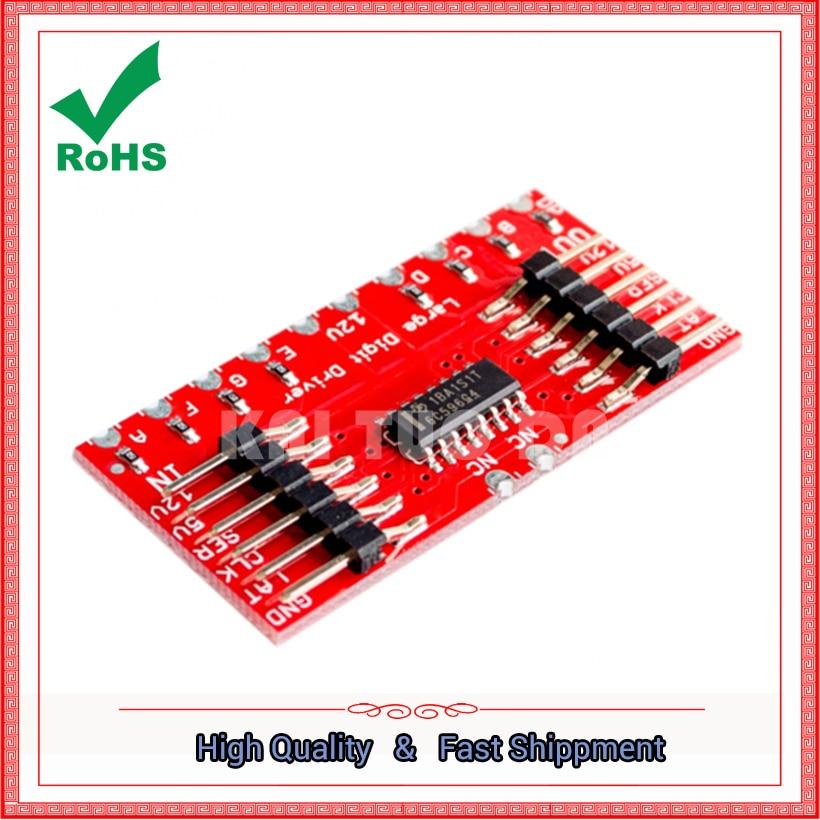TPIC6C596 8-bit shift register 7segment displays 7-segment digital tube board