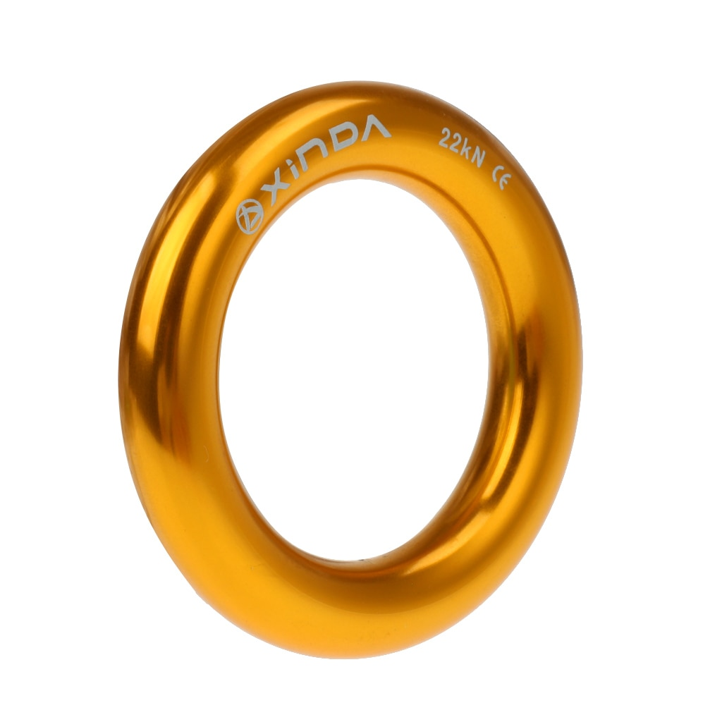 Большое кольцо для рапппеля 22KN соединитель каната для скалолазания на дереве арбористская установка для спасательных Гамаков