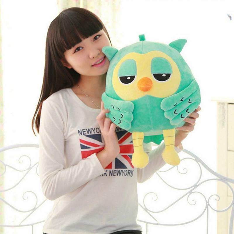 18cm búho de peluche lindo gigante juguete de felpa grande sonajero muñeca animal relleno lindo juguete de felpa niños juguete para regalo