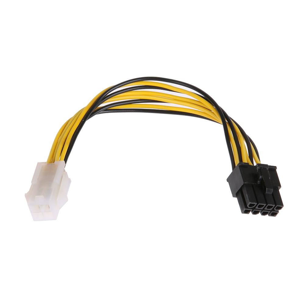 10 teile/los CPU 4Pin zu 8Pin power kabel Stecker Verlängerungskabel CPU Converter Cord netzteil Kabel für desktop