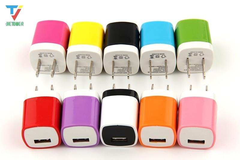 500 adet/grup 5V 1A ABD duvar şarj tak adaptörü samsung htc blackberry için iphone 8 7 için ipod çalar toptan ucuz