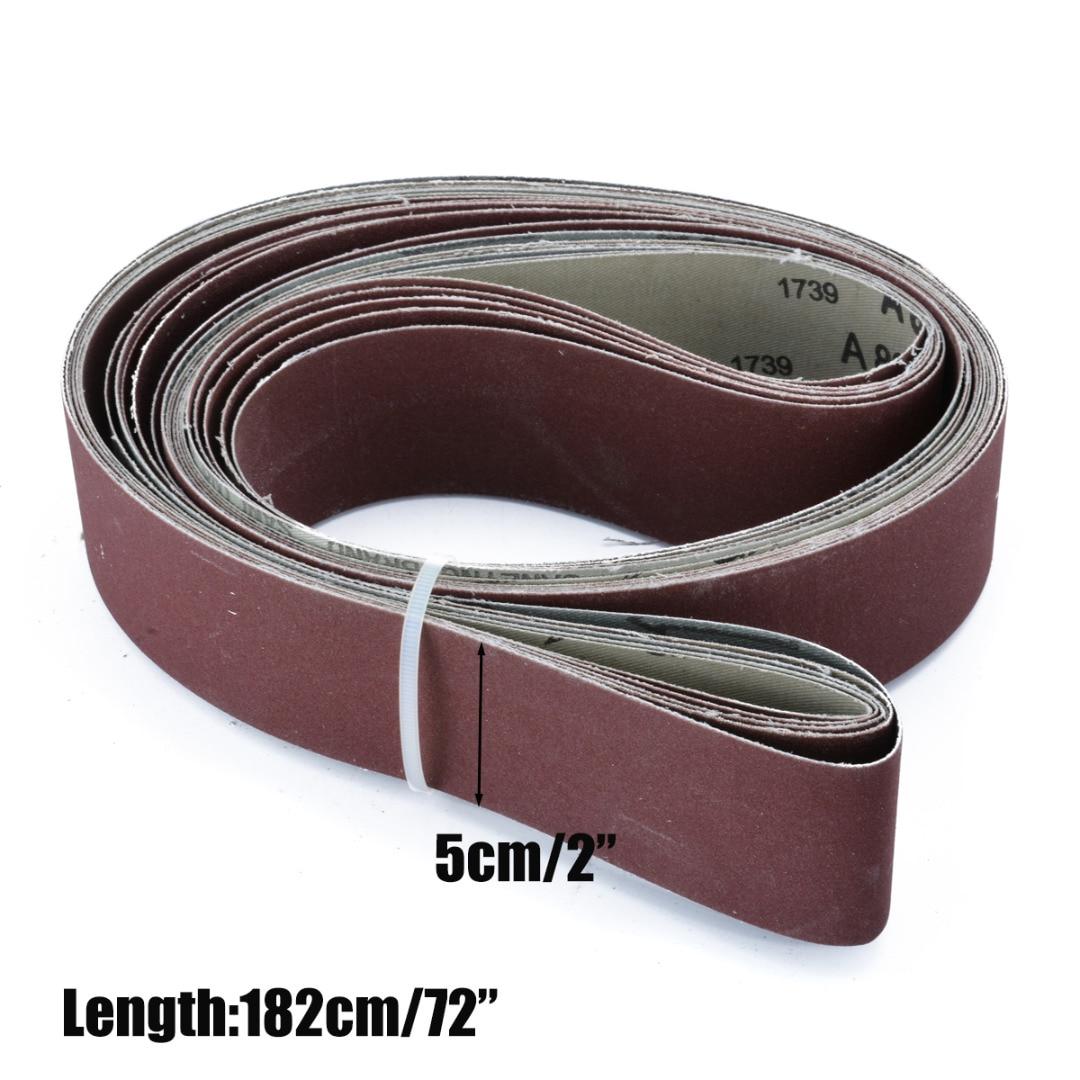 6pcs 180 240 320 400 600 800 Grit Sanding Belts 2 X 72 Grit Abrasive Tool Wood Metal Oxide Sander Belt Power Tools Mayitr Sanding Belt Sander Beltbelt Sanding Belts Aliexpress