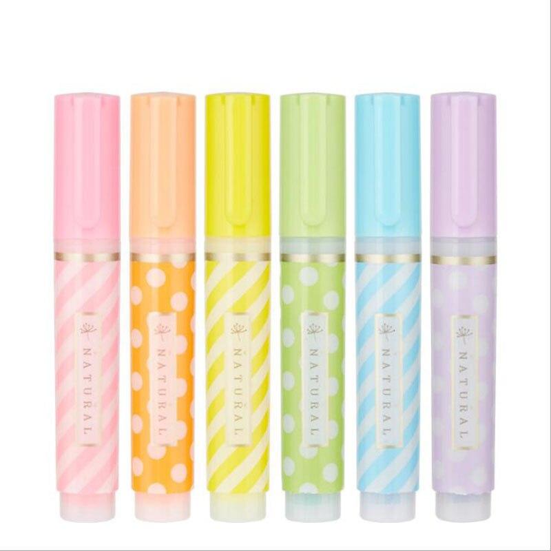 Hobby Mini 6 marcador de colores pintura líquida pluma marcador de dibujo papelería escuela Oficina suministros de regalos para niños