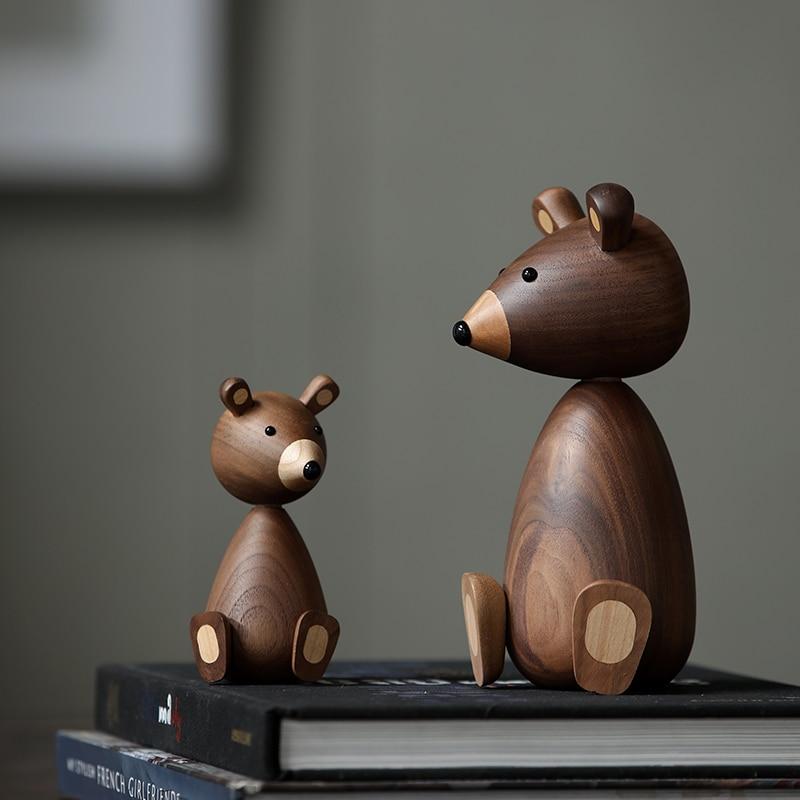 روسيا الدب الصغير الخشب الحلي للديكور السنجاب للحرف الخشب والأثاث شحن الهدايا الصغيرة الخشب لعبة دب ديكور المنزل