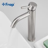 frap modern hot and cold water basin faucet deck mounted single lever bathroom mixer sink faucet stainless steel tap y10169 1