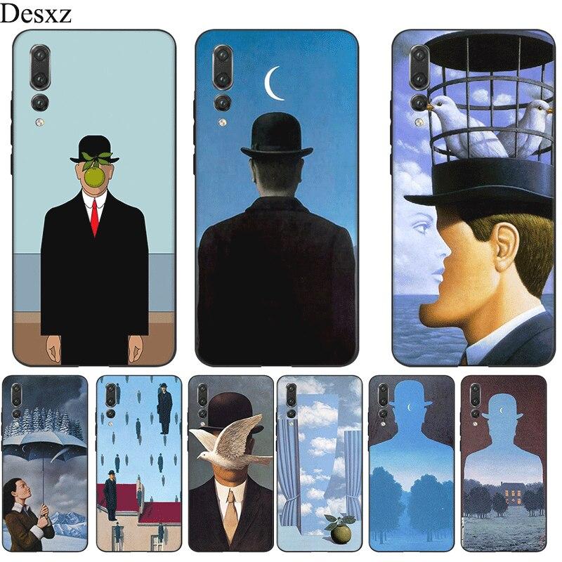 Teléfono Móvil de silicona caso de Huawei P30 P20 P10 P9 P8 Lite Pro P cubierta inteligente TPU Rene Magritte Shell