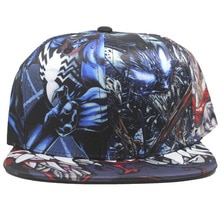 Movie Anime Venom Cap Student Hip-hop Fashion Hat Comics Cartoon Cotton Quality Sun Hats Creative Gift Young Men Baseball Caps
