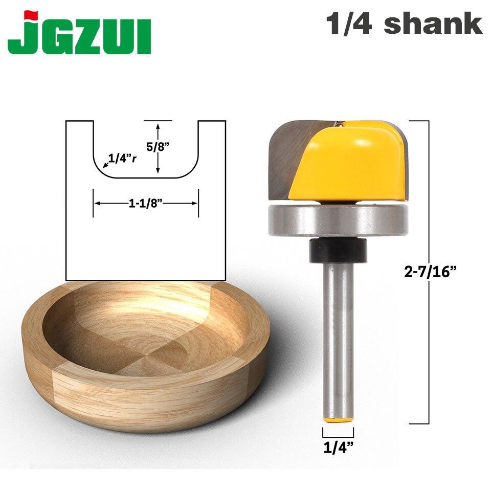 """1-1/8 """"diámetro del Tazón y la bandeja Router Bit-1/4"""" Shank"""