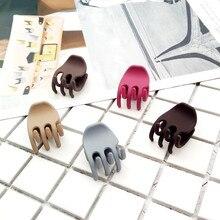 Hot Sale Simple Korean Style Female Hair Clips For Girls Women Fashion Scrub Acrylic Hair Crab Claw Girls Hair Barrettes