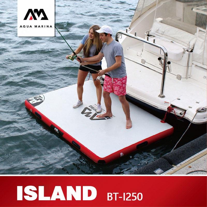 AQUA MARINA ISLAND Floating Plate Surf Floating Board Inflation Surfing Fishing Platform Work Platform 250*160*15cm