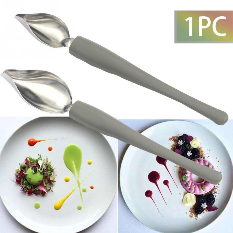 Креативная деко ложка для украшения суши, инструмент для рисования еды, дизайн соуса, Туалетная тарелка, жаропрочная посуда для десерта, торта, гастрономическая ложка, инструмент для кофе