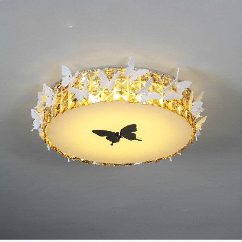 Lampe de plafond à Led papillon, lumières de bureau, plafond moderne à LEDs pour létude, salon, éclairage de mariage, Lampara