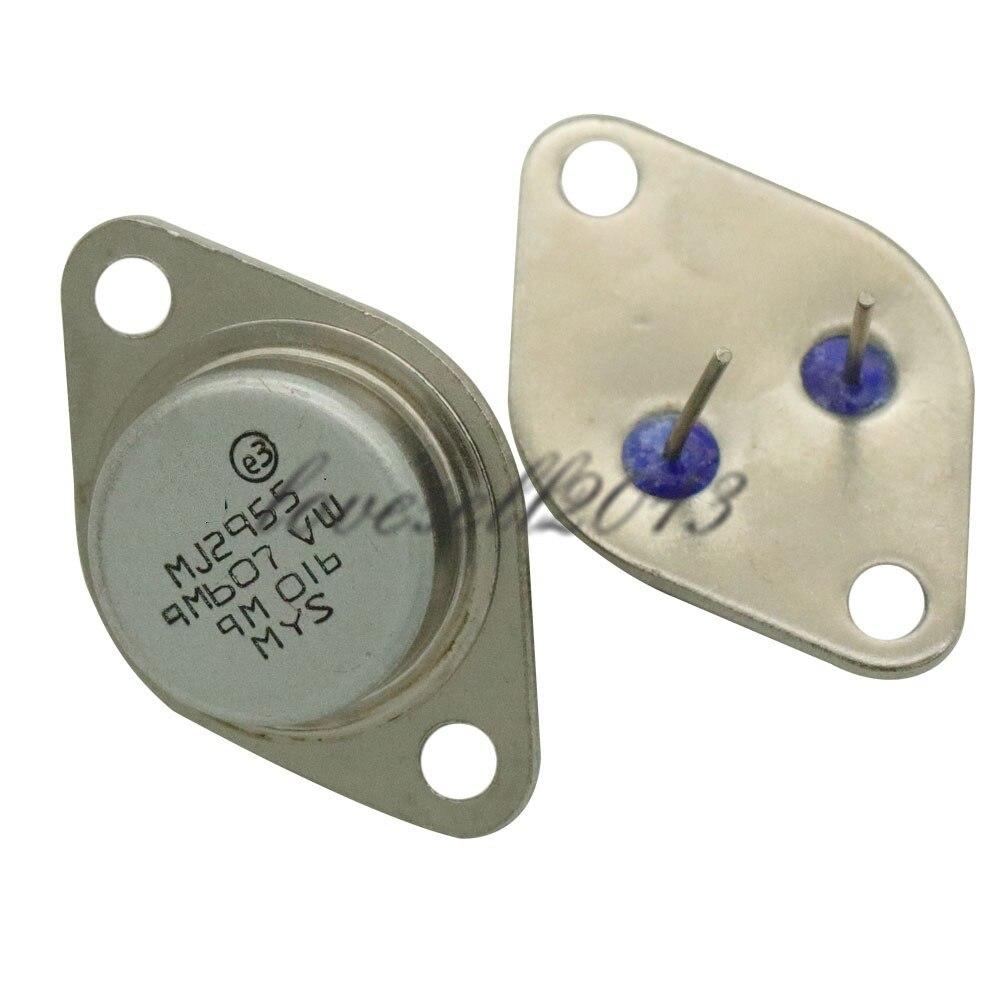 2pcs NEW TO-3 MJ2955 PNP AF Amp Audio Power Transistor 15A/60V