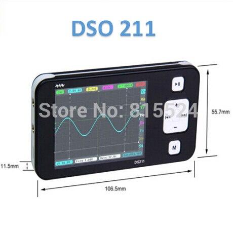 Nova versão mini braço dso211 digital osciloscópio portátil de bolso-tamanho nano handheld osciloscópio de armazenamento digital