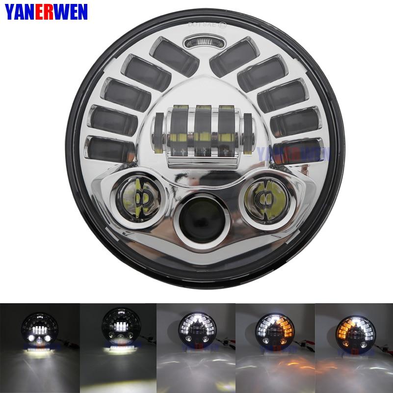 Hot Sale 7 INCH LED Projector Headlight High Low Beam for Honda CB400 CB500 CB1300 Hornet 250 600 Front headlamp L001 70W