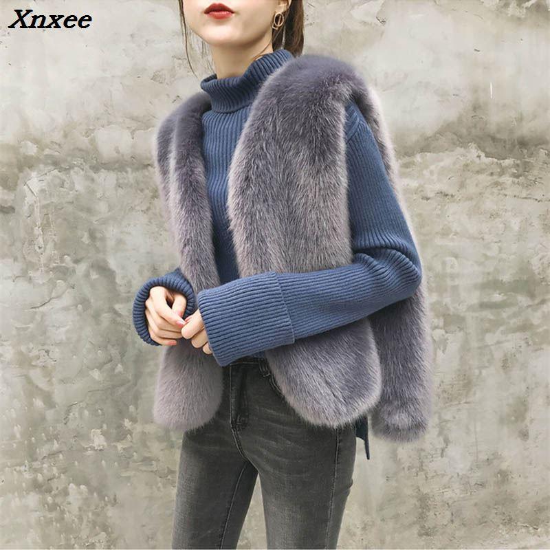 2018 mulher casaco de inverno estilo Coreano das mulheres artificial colete de pele de vison casaco mulheres jaqueta sem mangas lace up faux fui colete feminino