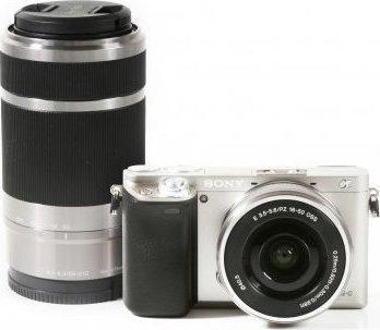 Sony ILCE-6000 A6000 A6000Y 24,3 MP, Cuerpo de Cámara Digital + 16-50mm + 55-210mm, lente plateada