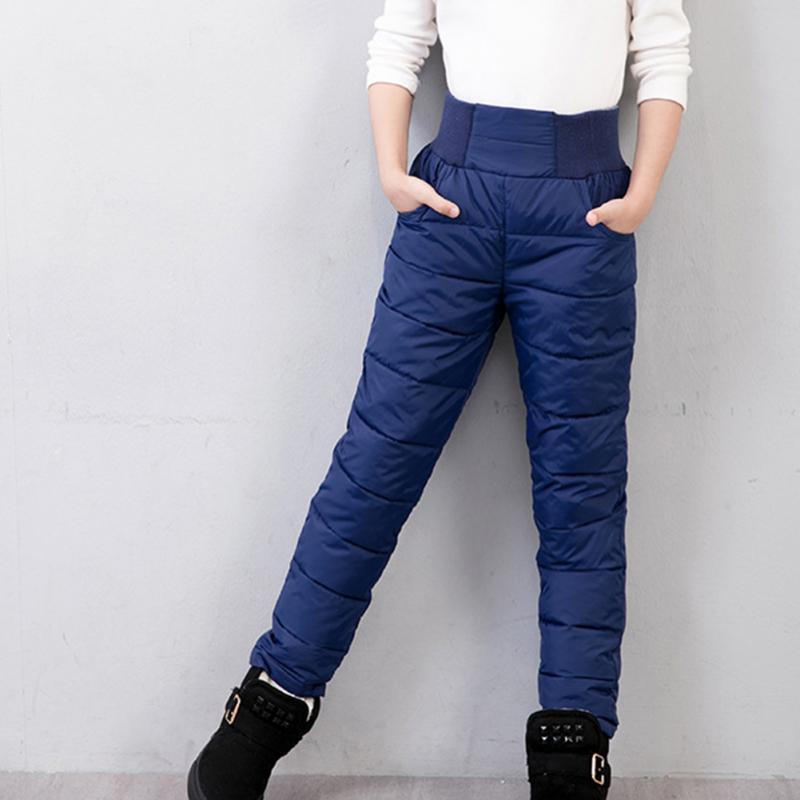Niños pantalones niñas polainas pantalones para niñas invierno espesar ropa delgada caliente abajo bebé niños otoño ropa