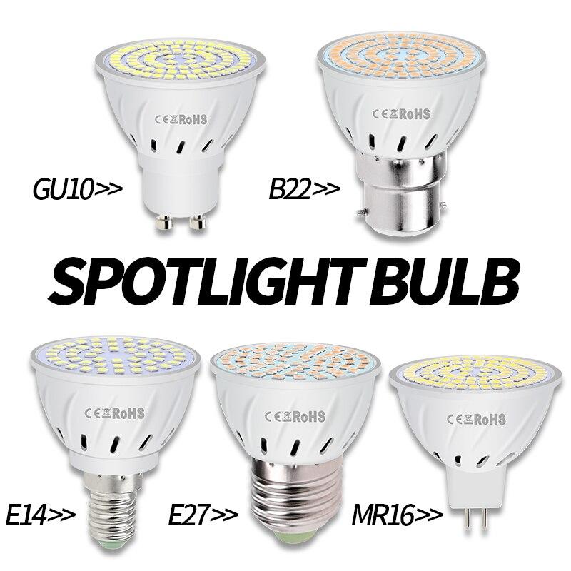 E27 bulbo de milho mr16 bulbos gu10 lâmpada led gu5.3 ampl 48 60 80leds bulbo b22 bombillas led e14 220v lâmpada spotlight 2835