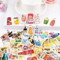 226pcspack kawaii snacks delicacies drinkfoods decoration stationery sticker diy ablum diary scrapbooking sticker stationery