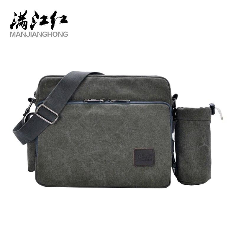 Холщовые сумки-мессенджеры на ремне для мужчин в Корейском стиле, модные холщовые сумки черного цвета, индивидуальные повседневные мессенд...