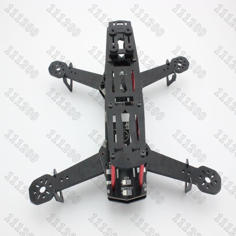 Nuevo QAV250 250mm Mini FPV Quadcopter Kit marco PDB (tarjeta de distribución de energía integrada para construcción limpia) versión para CC3D NAZE32