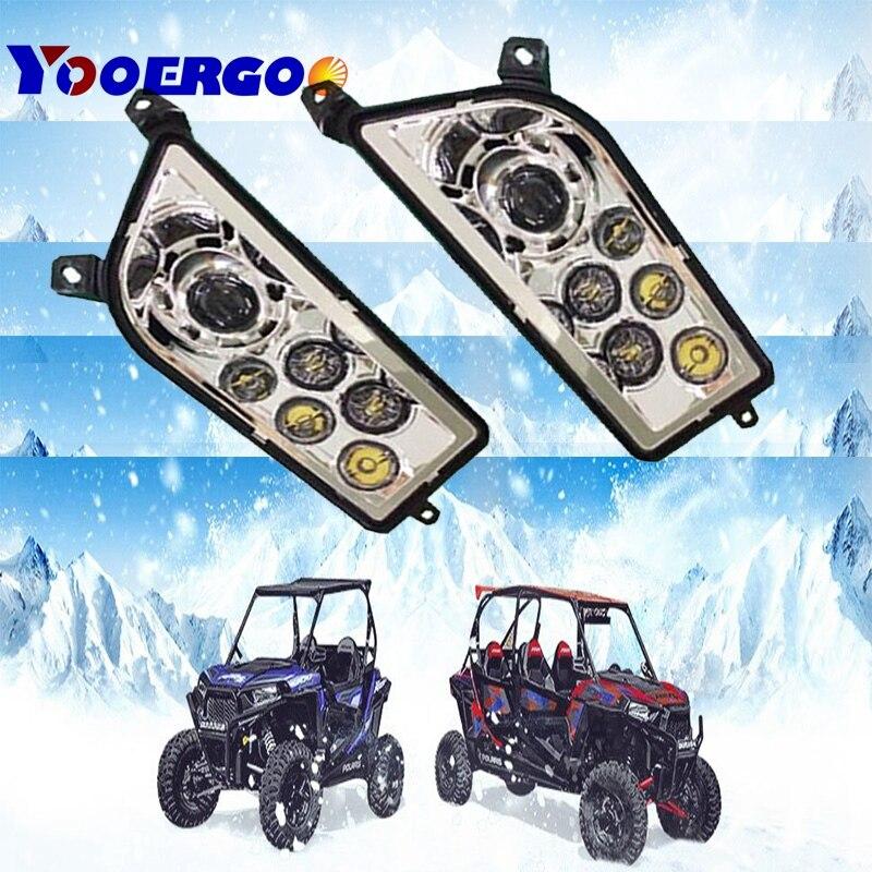 Czerwony niebieski Polaris RZR 1000 akcesoria Off road zestaw reflektorów Led reflektor dla ATV UTV RZR 900 Polaris 1000 RZR XP 4 1000 TURBO
