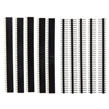40 Spille 1x40 Singola Riga Maschio e Femmina 2.54 Fragile Spille Header PCB JST Connettore Strip per Arduino nero