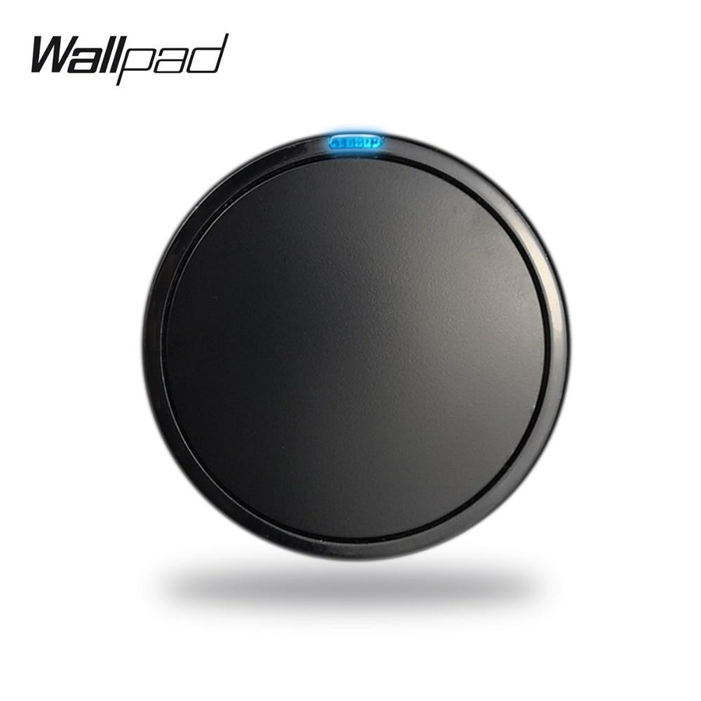 Wallpad L6 מודולרי 4 צבעים 1 כנופיית 1 דרך לדחוף כפתור החזרת קיר אור חשמל מתג DIY משלוח שילוב
