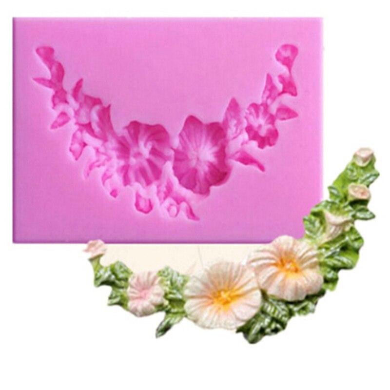 Floral botín de Sgarcraft moldes plantilla para cupcakes moldes de jabón chocolate...