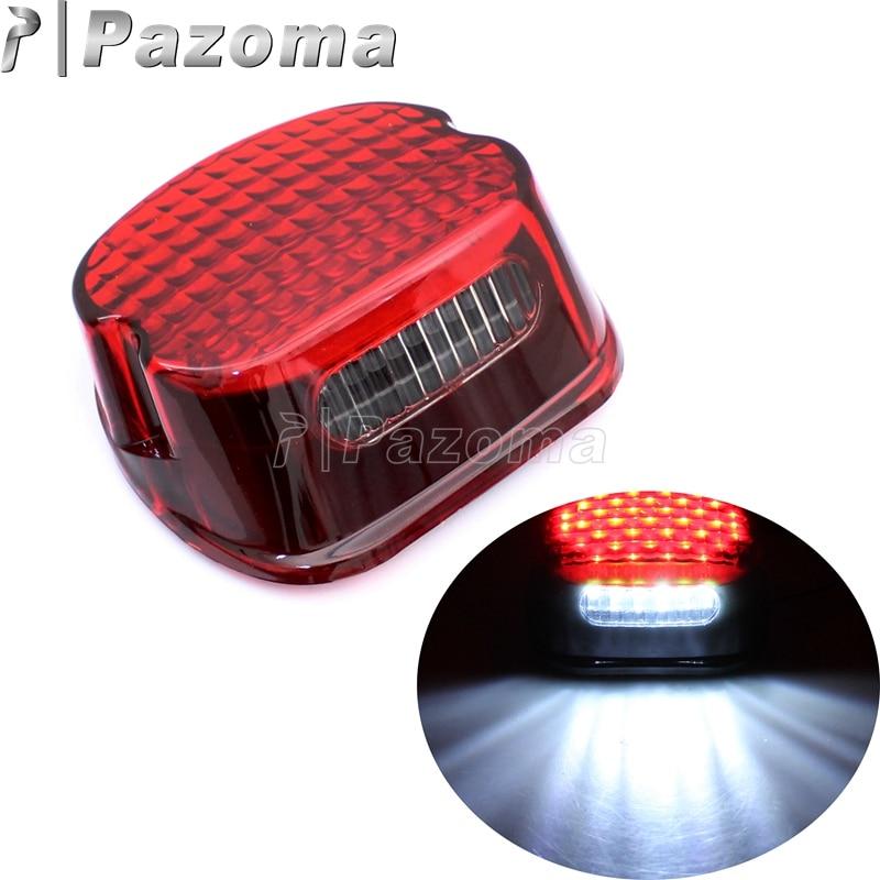 Perfil LED rojo luz trasera de freno Luz de matrícula para herencia Harley Dyna Road King Electra Glide