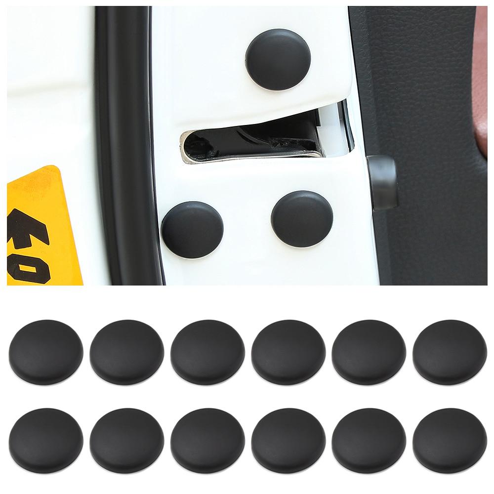 12Pc cerradura de la puerta del coche tornillo Protector de la cubierta para Nissan Qashqai J11 J10 Xtrail de T30 T31 T32 Juke Murano viceversa Sentra Altima