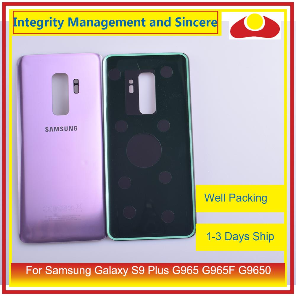 50Pcs/lot For Samsung Galaxy S9 Plus G965 G965F G9650 SM-G965F Housing Battery Door Rear Back Glass Cover Case Chassis Shell enlarge