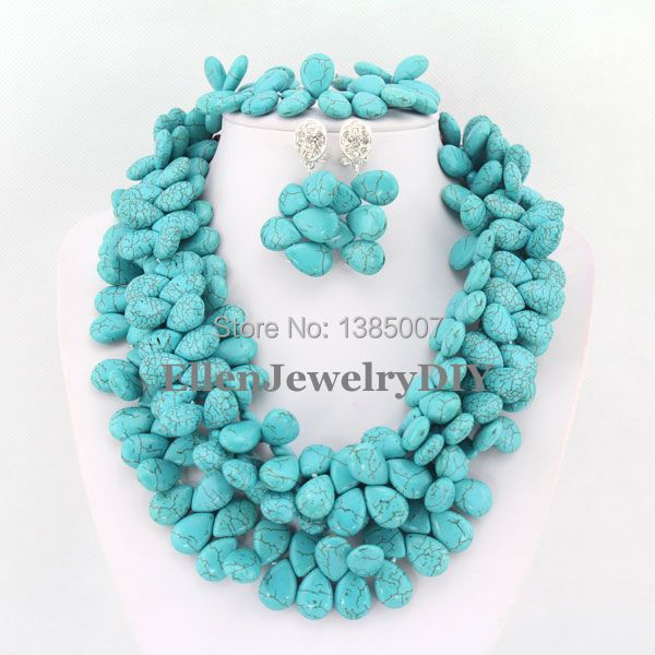 hot Jewelry Set African Nigerian Beads Jewelry Sets hot Necklace Bracelet Earrings Sets  TL1270